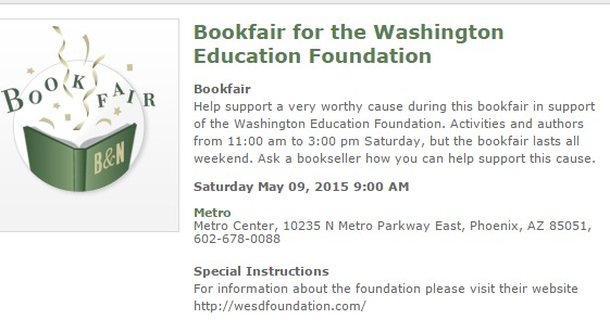 Washington Education Foundation Book Fair