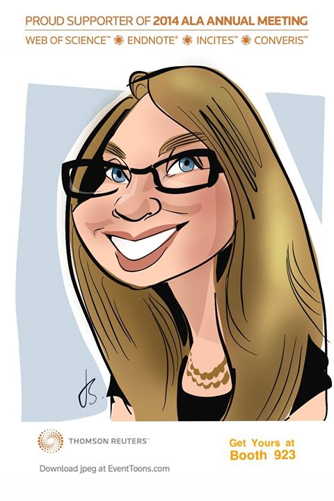 Shonna caricature from ALA